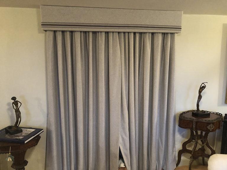Curtains; Curtain design; Handmade curtains; Bespoke curtains; Pelmets; Box pelmets; Flat pelmets