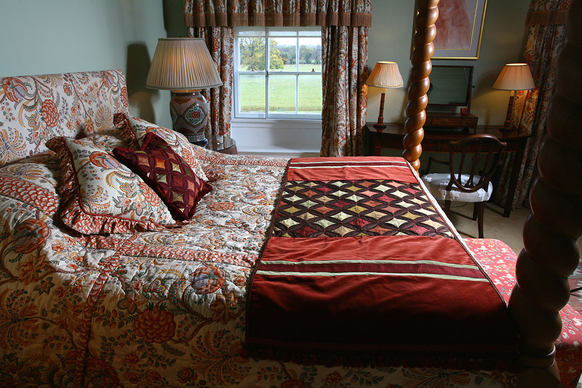 Headboards; Bed valances; Bedspreads; Interiors; Interior design; Soft furnishings; Soft furnishing designer; Soft furnishings design; Four Poster Beds; Bed Tester;