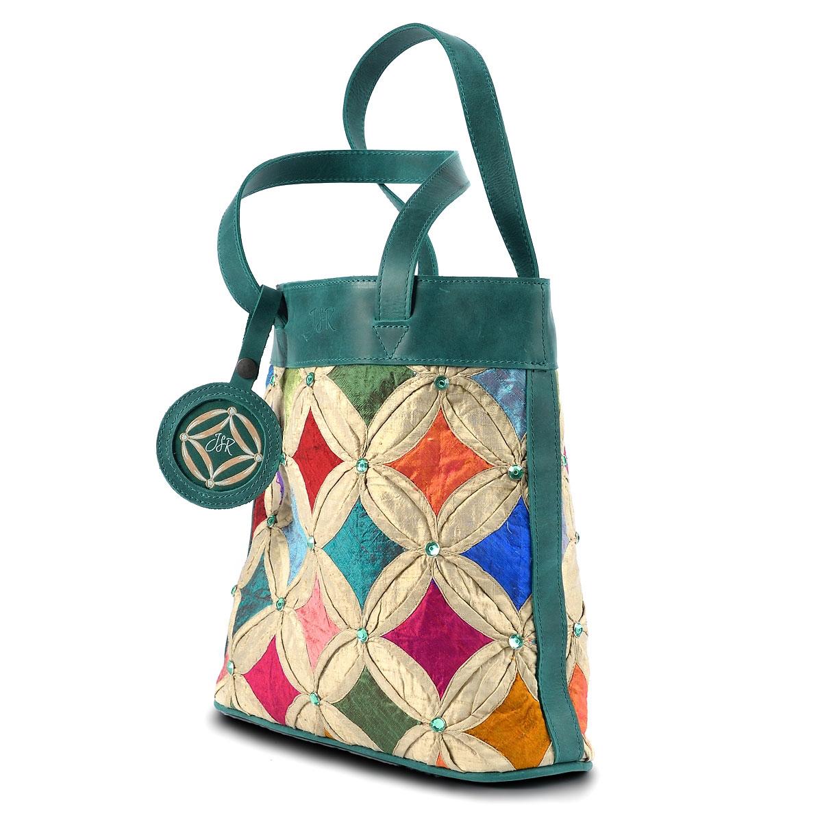 Green Jewel tote bag