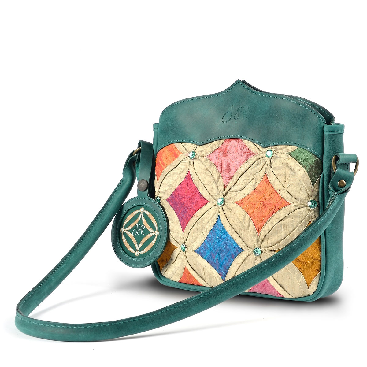 Green Jewel shoulder bag